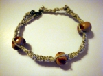 Anklet with home-baked beads