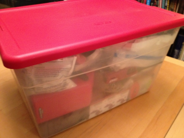 Emergency Bin, emergency go box, how to make an emergency go box, emergency evacuation kit