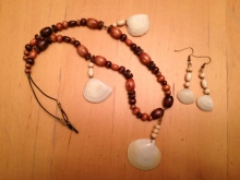 Jewelry making. How to make necklace and earring.