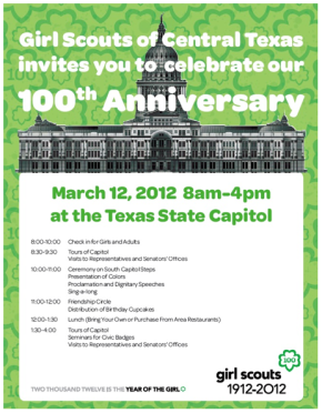 Happy 100th Birthday to Girl Scouts ofAmerica!