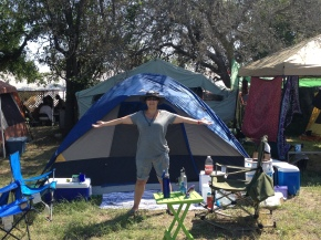 Camping at Kerrville Folk Festival: Welcome Home