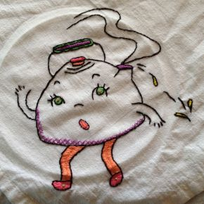 Retro Tea Towels: A Little Basic Embroidery