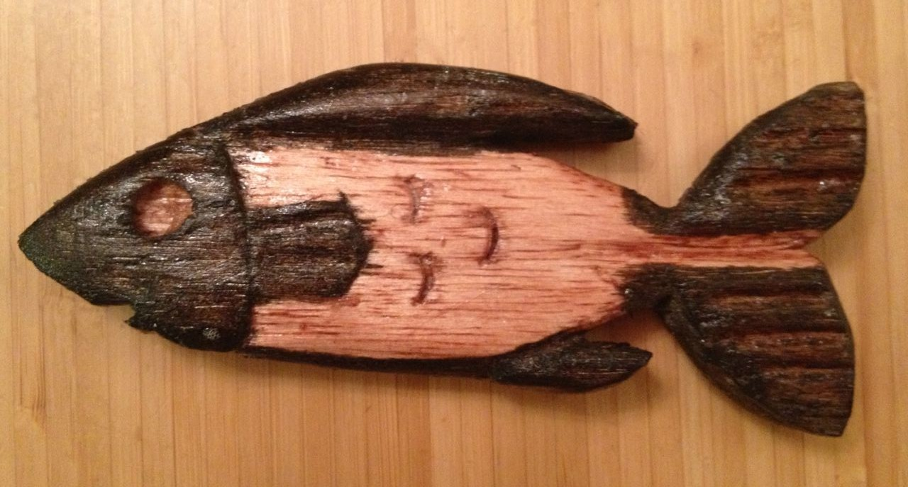 A few woodcarving basics big scout project for Fish wood carving
