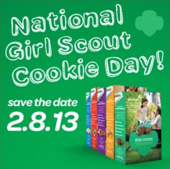 Today is National Girl Scout Cookie Day!