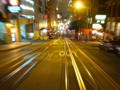 I jumped on the Powell Street cable car for a few blocks to grab some motion shots.