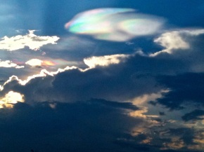 Iridescent Clouds: A Rare Rainbow in the Sky