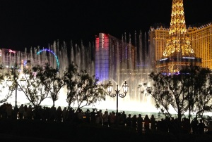 The mother of all Vegas fountains, you can watch the show every 15 minutes (and they're not the same!)